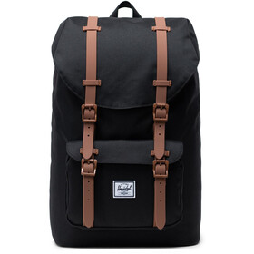 Herschel Little America Mid-Volume Rugzak 17L, black/saddle brown/rubber